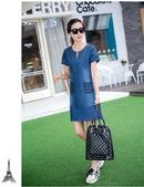 Tp. Hồ Chí Minh: Set đầm Jean body kèm áo mới CL1684527P4