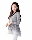 Tp. Hồ Chí Minh: Áo Kiểu Nữ Tay Dài 9051 ren kết hợp với voan làm cho bạn thêm quyến rũ CL1688551