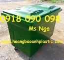 Bạc Liêu: xe rác composite, xe rác công nghiệp, xe thu gom rác 660 lít, xe rác công nghiệp CL1687149
