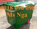 Bạc Liêu: cung cấp xe rác 500 lít, xe đẩy rác 500 lít, xe thu gom rác 660 lít, xe rác CL1687287