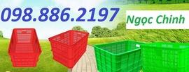 thùng nhựa nắp kín, thùng nhựa, sóng nhựa đặc, thùng nhựa giá rẻ, khay
