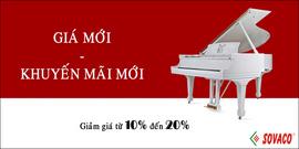 Tháng 7, tháng giảm giá đàn Piano