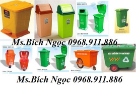 Thùng rác 2 bánh xe, thùng rác con gấu, thùng rác chim cánh cụt, thùng rác cá heo