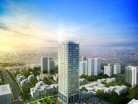 Bán gấp căn hộ chung cư The Pride, DT 80,65m2, hướng Đông Nam, giá 21tr/ m2.