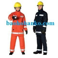Quần áo chống cháy cứu hỏa Nomex 4 lớp có phản quang