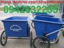 Tp. Hải Phòng: xe gom rác, xe rác đẩy tay, xe gom rác 400lit, xe gom rác giá rẻ, xe gom rac CL1694543