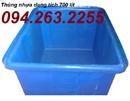 Vĩnh Phúc: thùng nhựa tròn, thùng nhựa to, thùng nhựa giá rẻ, thùng nhựa 750lit, CL1694543