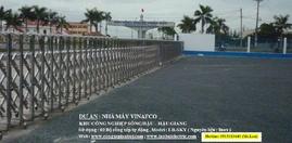 Cổng xếp inox - Công trình Nhà máy Vinafco - Hậu Giang