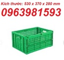 Tp. Hải Phòng: sóng nhựa rỗng, sóng cá giá rẻ, thùng nhựa vuông, ro nhua co nap, ro nhua CL1696449