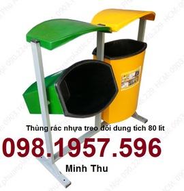 thùng rác, thùng đựng rác giá rẻ, thùng rác công viên, thung rac benh vien