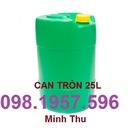 Tp. Hải Phòng: can nhựa vuông, can nhua tron 30lit, can dung hoa chat, can nhua gia re, can nhua CL1697277
