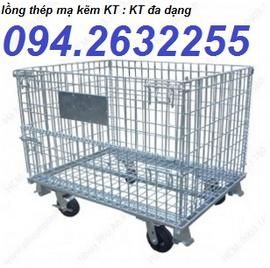 sọt lưới sắt giá rẻ, sọt lưới thép, xe đẩy hàng, lồng trữ hàng, xe nâng