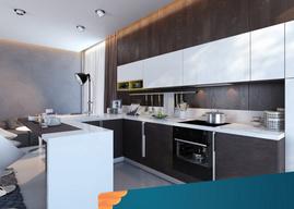 Lựa chọn màu sắc cho tủ bếp Laminate