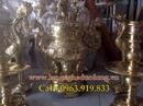 Tp. Hà Nội: Giá bộ đỉnh đồng thờ cúng, bộ đỉnh đồng mẫu chữ thọ, đỉnh đồng vàng, bộ đỉnh thờ CL1698691