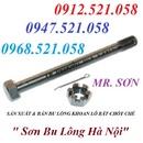Tp. Hà Nội: 0968. 521. 058 bán bu lông M8x40 & M6x30 có lỗ chốt chẻ Inox 304 Hà Nội CL1697295