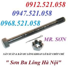 0968.521.058 bán bu lông M8x40 & M6x30 có lỗ chốt chẻ Inox 304 Hà Nội