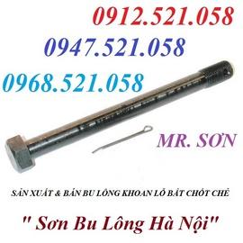 0913.521.058 bán chốt chẻ thép mạ kẽm và bu lông chốt chẻ thép Ha Noi