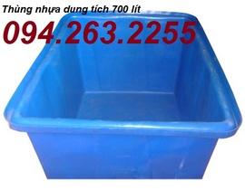 thùng nhựa giá rẻ, thùng nhựa tròn, thùng nhựa vuông, thung nhua 750lit