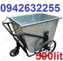 Tp. Hà Nội: xe gom rác giá rẻ, xe rác đẩy tay, xe cải tiến, xe rác kéo tay, xe gom rác 500l CL1703472P8