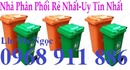 Tp. Hồ Chí Minh: Thùng rác nhựa 55l, Thùng rác chân trụ sắt, Thùng rác chân trụ tròn CL1698124