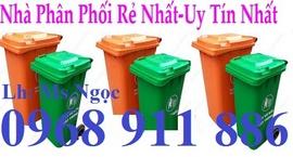 Thùng rác nhựa 55l, Thùng rác chân trụ sắt, Thùng rác chân trụ tròn