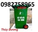 Tp. Hà Nội: thùng rác nhựa, thung rac co banh xe, thung rac 60lit, thung rac 120l nap kin, CL1698573