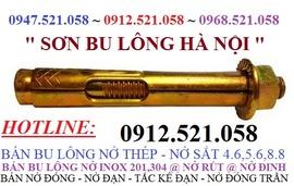 0913.521.058 bán Bu lông nở thép,nở sắt thang máy, bu lông nở Inox Ha Noi