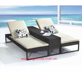 giường tắm nắng bãi biển, quán cà phê giá cực rẻ