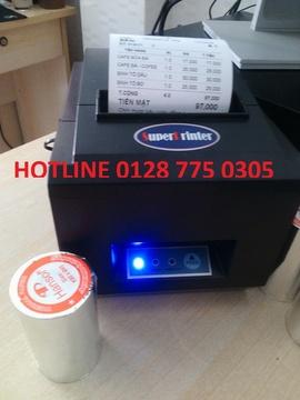 Máy in hóa đơn in bill đơn giản cho quán cafe