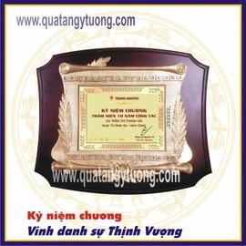 Chuyên làm kỷ niệm chương gỗ đồng, biểu trưng gỗ đồng quà tặng lưu niệm