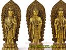 Tp. Hà Nội: Tượng tây phương tam thánh mẫu đứng nhỏ kích thước cao 18cm, tượng đồng tây phươ CL1699467