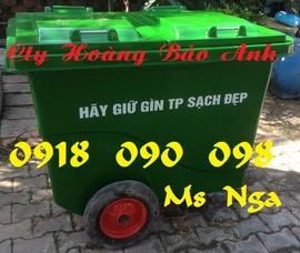 Xe rác rác composite, xe ác 660 lít, xe rác công cộng, thùng đựng rác, thùng rác