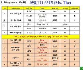 Học Tiếng HÀN tại Đại học Ngoại Ngữ 098 111 6315
