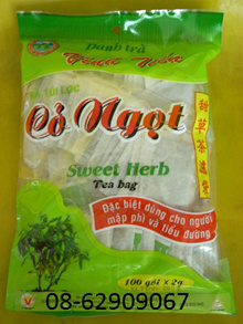 Bán Trà dùng cho người béo phì, tiểu đường, cao huyết áp=Trà cỏ ngọt