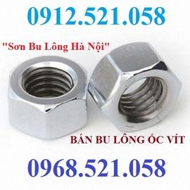 Bán đai ốc ren mịn M10 mạ kẽm Hà Nội 0912.521.058 bán ê cu ren mịn M10