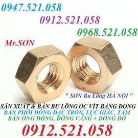 Bán ê cu bằng đồng vàng, Đai ốc Đồng Hà Nội 0968.521.058 Bu Lông Đồng