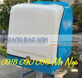 bán thùng giao hàng sua xe máy , thùng chở hàng sau xe , thùng hàng composite