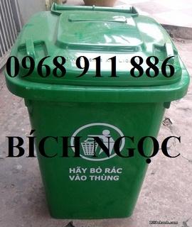 Thùng rác công cộng, thùng rác 2 bánh xe, thùng rác nhựa HDPE, 60l, 90l, 120l, 240