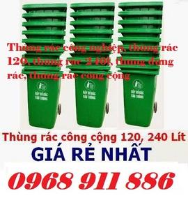 Xe đẩy rác ,xe quét rác, xe rác 660l, xe rác 1000l 3 bánh lớn, xe gom rác giá rẻ