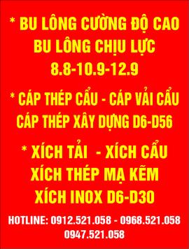 Tăng Đơ 2 Đầu Tròn Thép Mạ Kẽm 0968. 521. 058 Cáp Thép bán Hà Nội rẻ