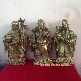 Tượng đồng tam đa, bộ tượng tam đa KT 45cm, ba ông Phúc Lộc Thọ, Phước Lộc Thọ,