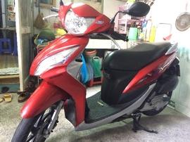 # xe Honda Vision đỏ cuối 2012