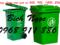 [3] Xe rác công nghiệp nhựa composite giá rẻ, thùng rác gia đình