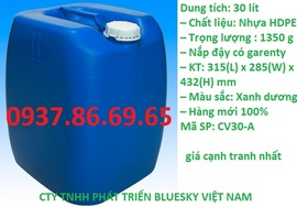 can 20l, can nhựa cũ 20lit, can nhựa giá rẻ, can nhựa chứ hóa chất