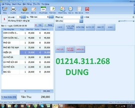 Phần mềm giá rẻ tính tiền cho quán ăn tại BÌNH THỦY