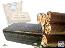 Hộp giữ ẩm Cigar, hộp bảo quản Cigar Cohiba H338 cao cấp