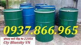 thùng nhựa 120lit, thùng phuy 220lit, thùng phuy sắt giá rẻ, thùng 70lit
