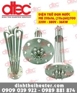 Điện trở đun nước MB210x16, fi 11x(6U)700_220V-380V-36KW