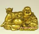 Tp. Hà Nội: Tượng Phật Di Lặc, mẫu tượng dilac tựa bao bố dâng tiền cao 13cmx22cm, tượng đồn CL1703005