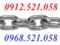 [3] Dây xích thép mạ kẽm & Xích INOX 201,304 bán Hà Nội 0947.521.058 Mr.Sơn